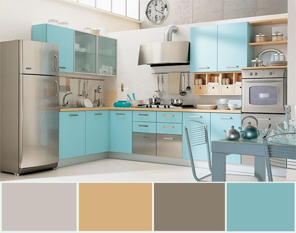 Intérieur sobre d'une cuisine spacieuse de style moderne