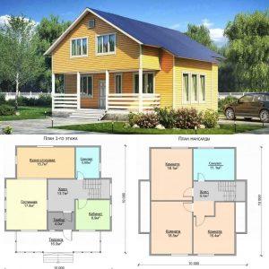 Projet d'une maison à ossature bois avec un grenier