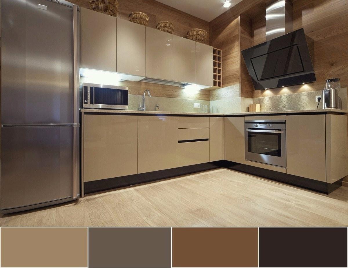 Une combinaison étonnamment douce de nuances douces et chaudes de brun et de gris.