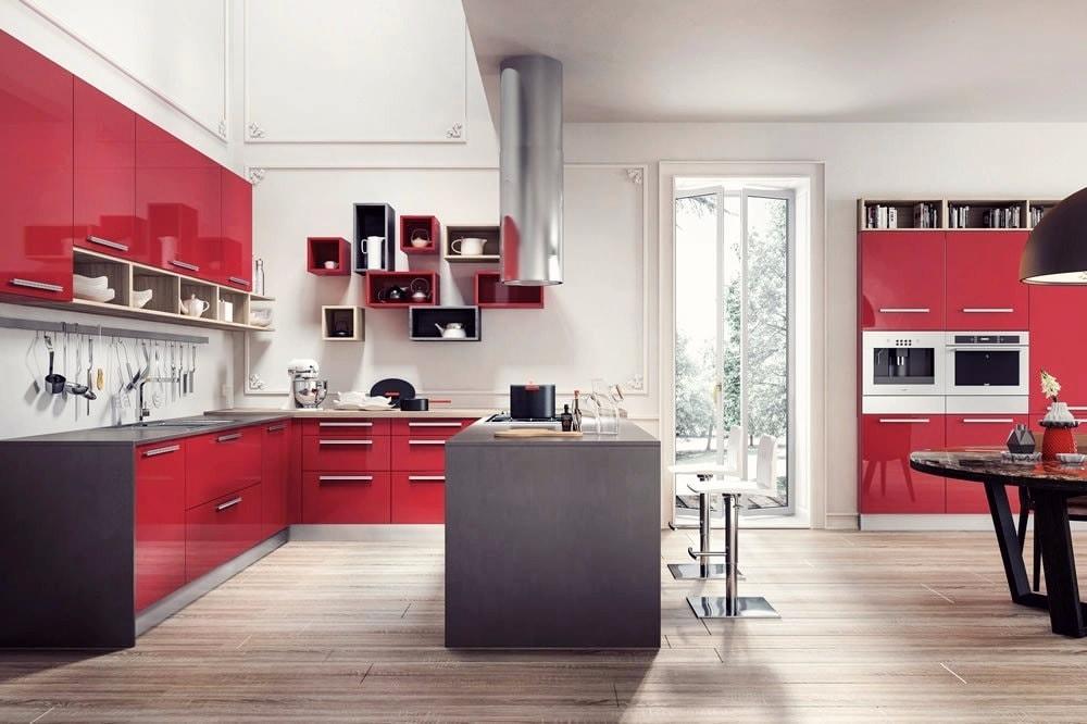 Cuisine élégante et spacieuse de style moderne