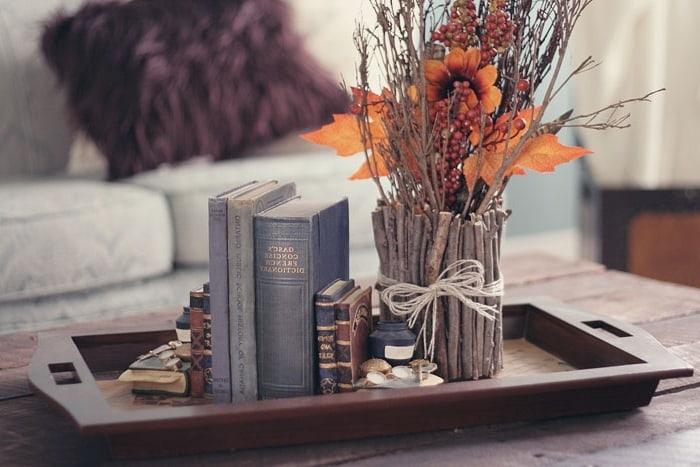 Декоративная ваза из веток украсит любой стол