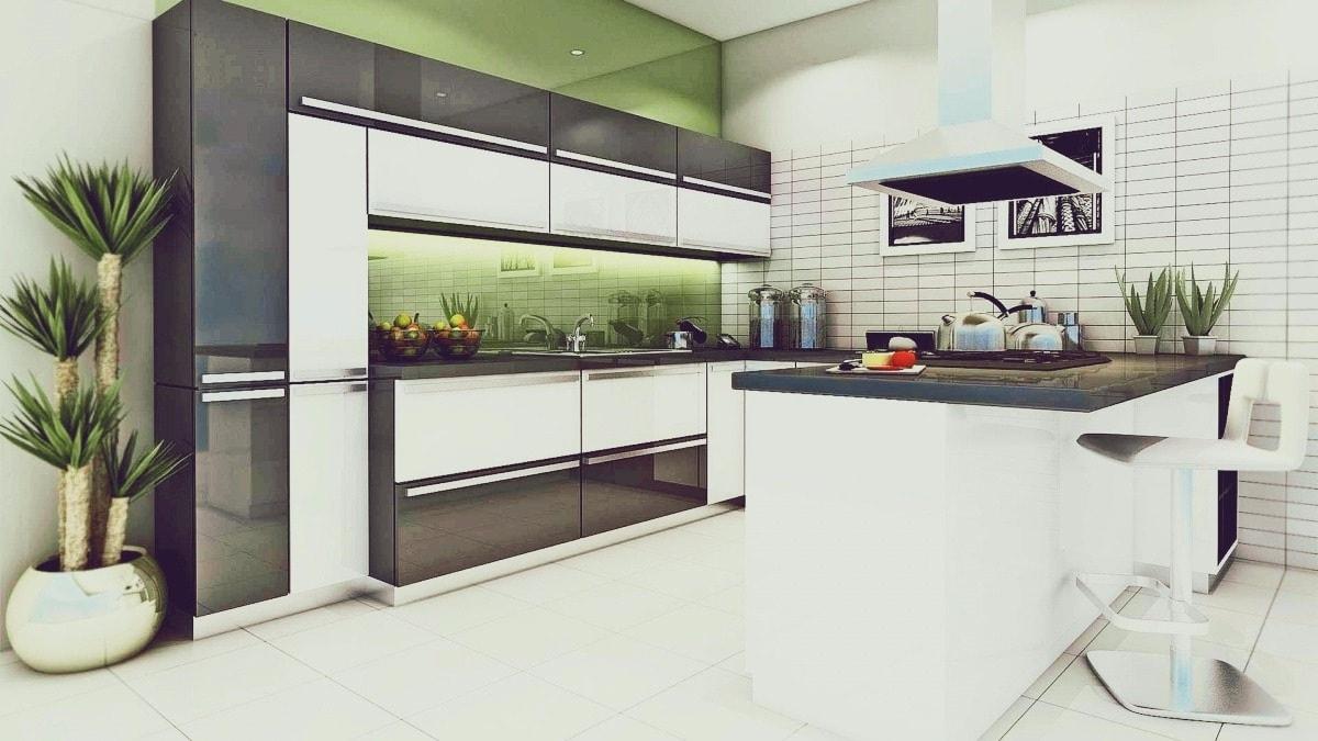 Une solution tout à fait originale pour rafraîchir votre intérieur dans la cuisine - est d'installer un éclairage LED