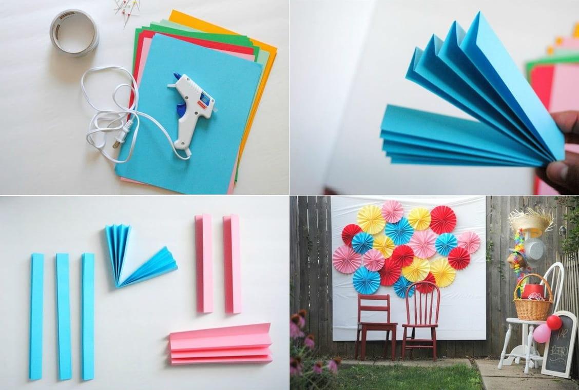 Используя цветные салфетки, можно организовать отличную фотозону