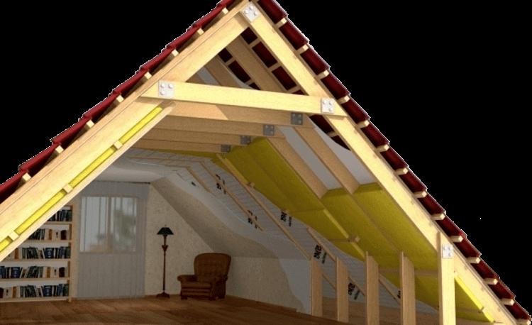 Isolation de la toiture avec de la laine minérale