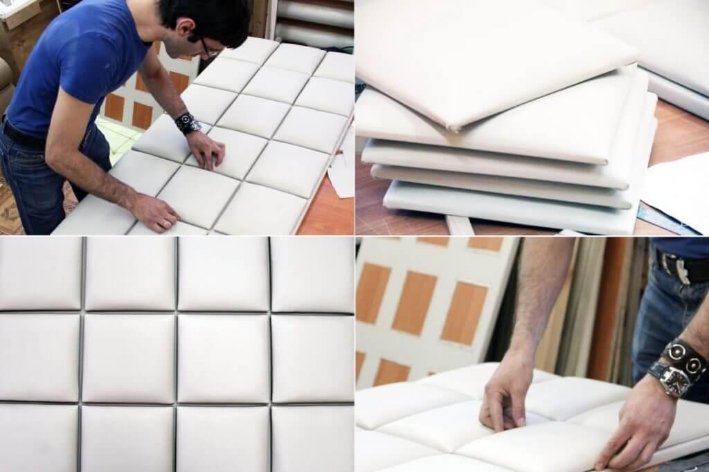 Atelier de fabrication de panneaux muraux souples