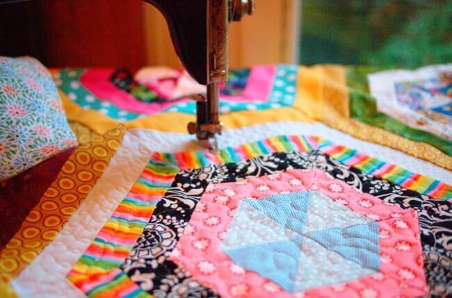 La technique du patchwork est un processus assez laborieux, mais très excitant.
