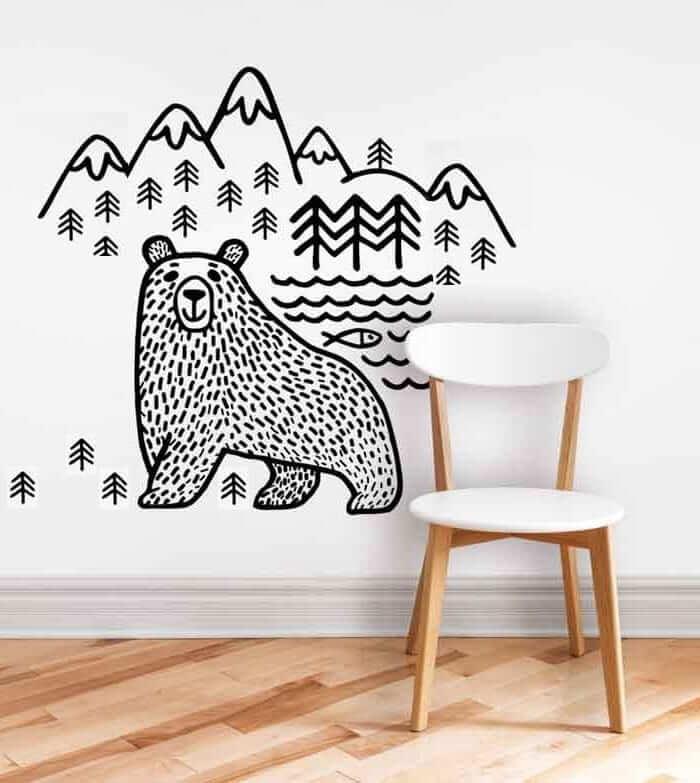 Une telle composition murale vous permettra d'être un peu plus proche de la nature.
