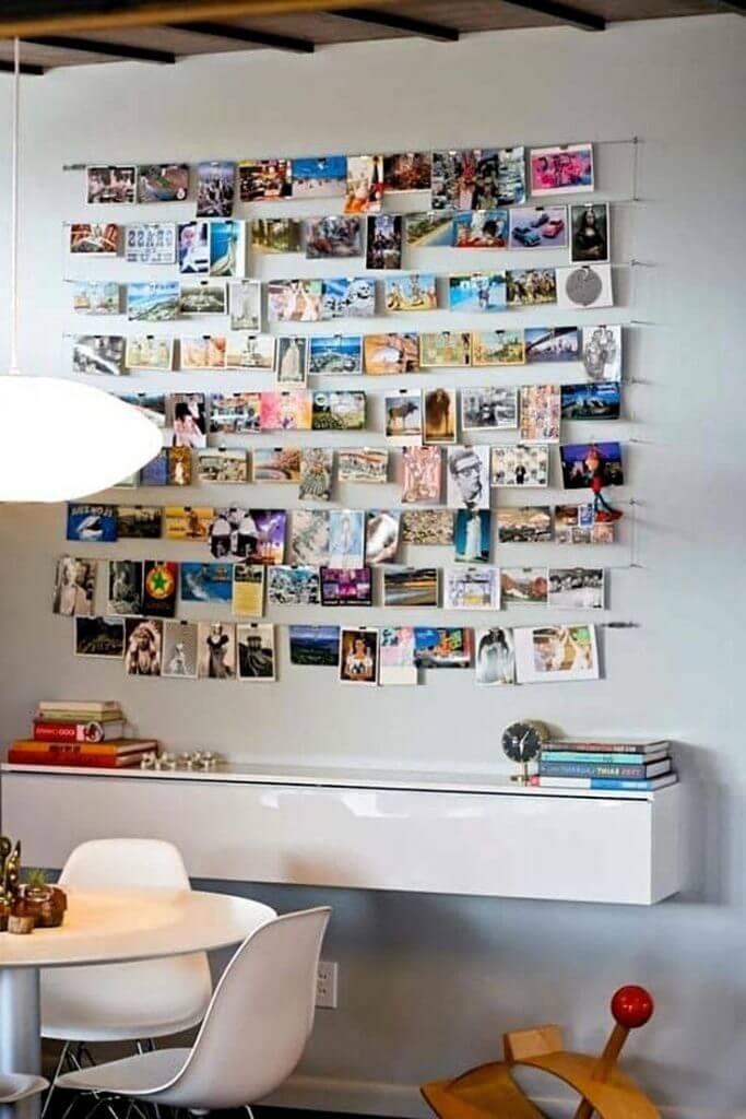 Petites images sur le mur