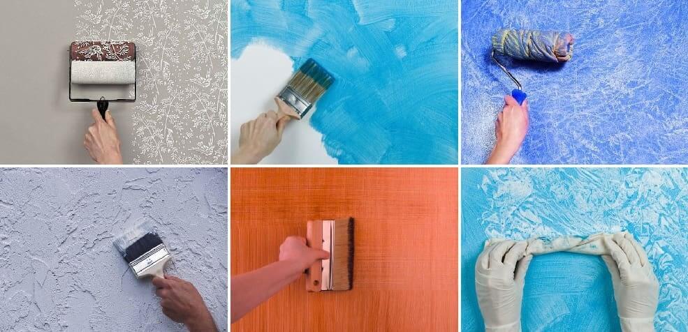 Peinture de texture de murs
