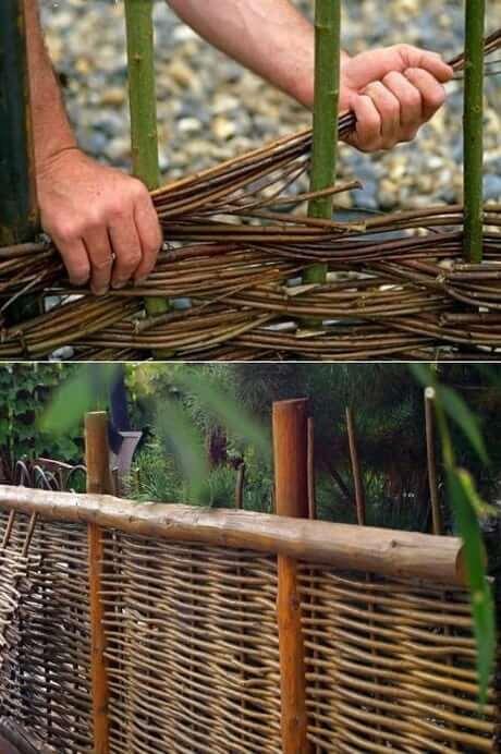 comment tisser une clôture à partir de branches