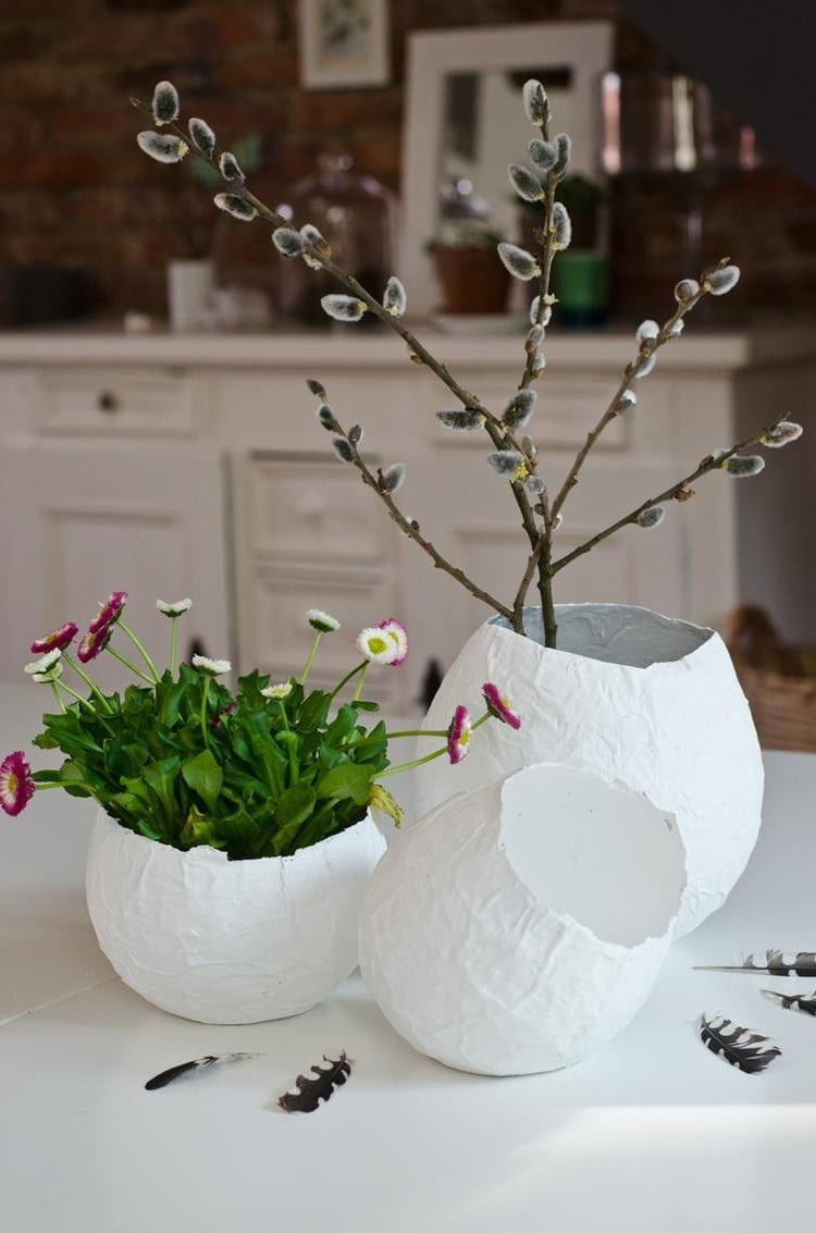 """Сделать красивую вазу с использованием техники """"папье-маше"""" - очень просто"""