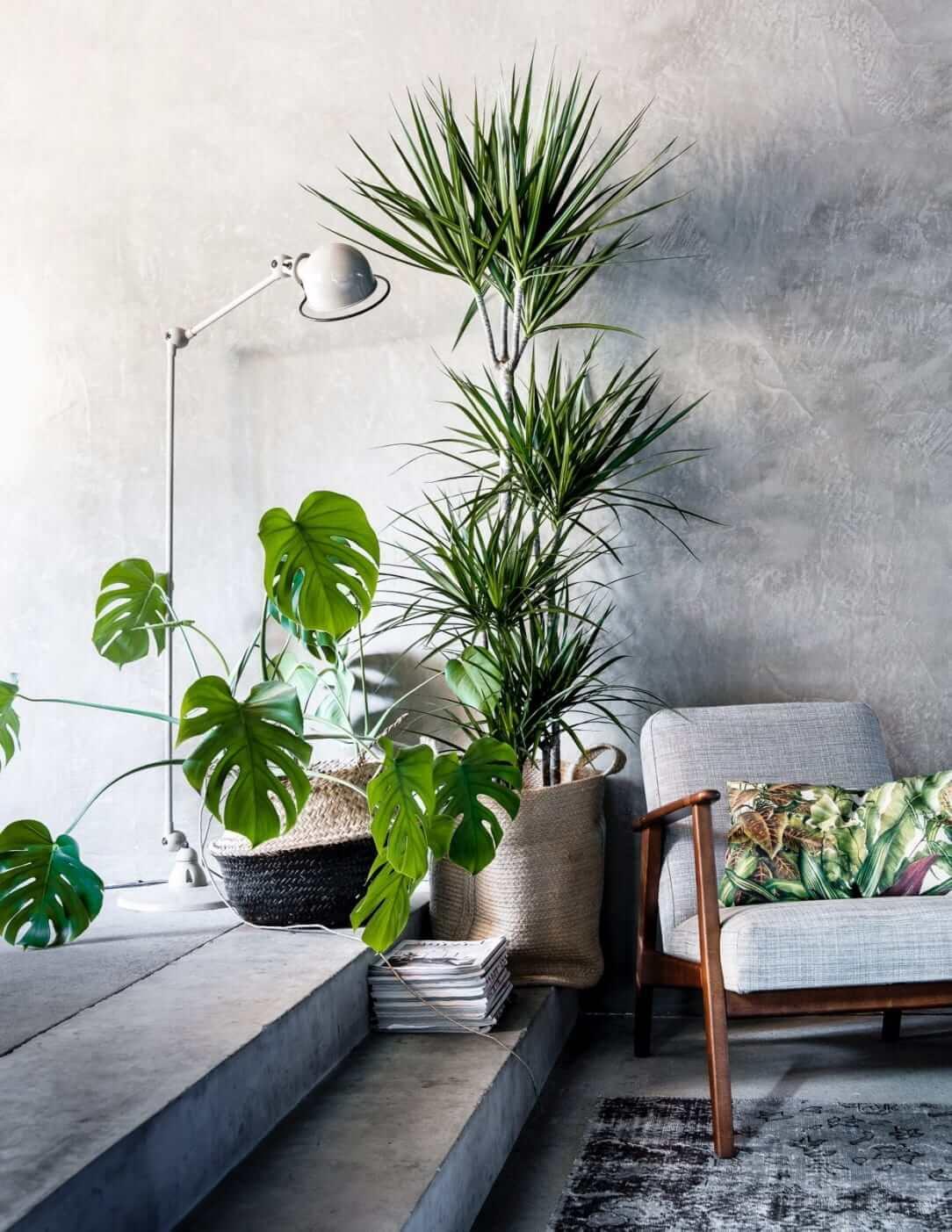 Идеальное сочетание серого и зеленого цвета в интерьере