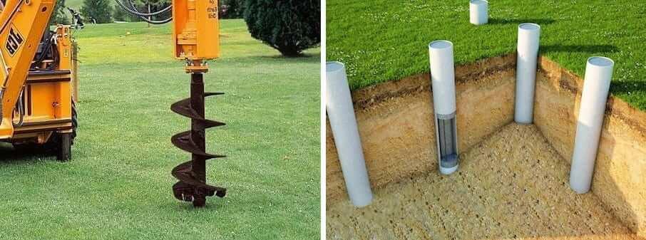 Если бурение скважин под столбы будет осуществляться с помощью техники, необходимо обеспечить беспрепятственный подъезд машины к месту работ
