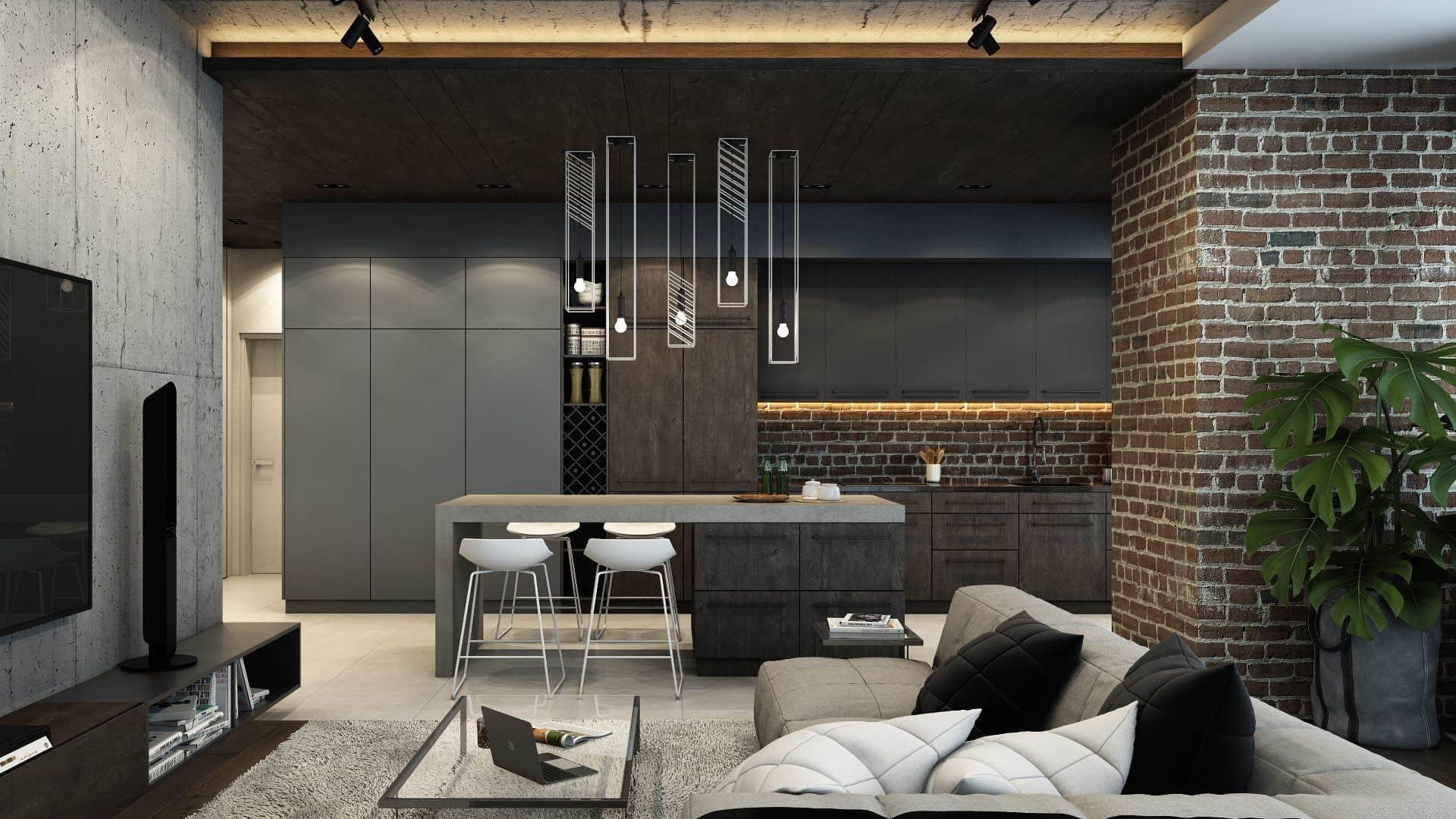 Les ampoules ordinaires au-dessus de la table à manger seront avantageuses si elles sont décorées d'élégants plafonds d'auteur.