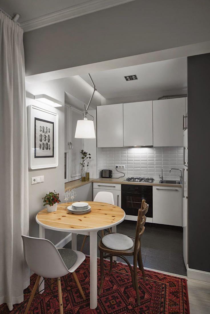 Augmenter visuellement l'espace d'une petite cuisine en utilisant la couleur grise - très facile, l'essentiel est de bien penser à tout et de prendre en compte tous les détails.