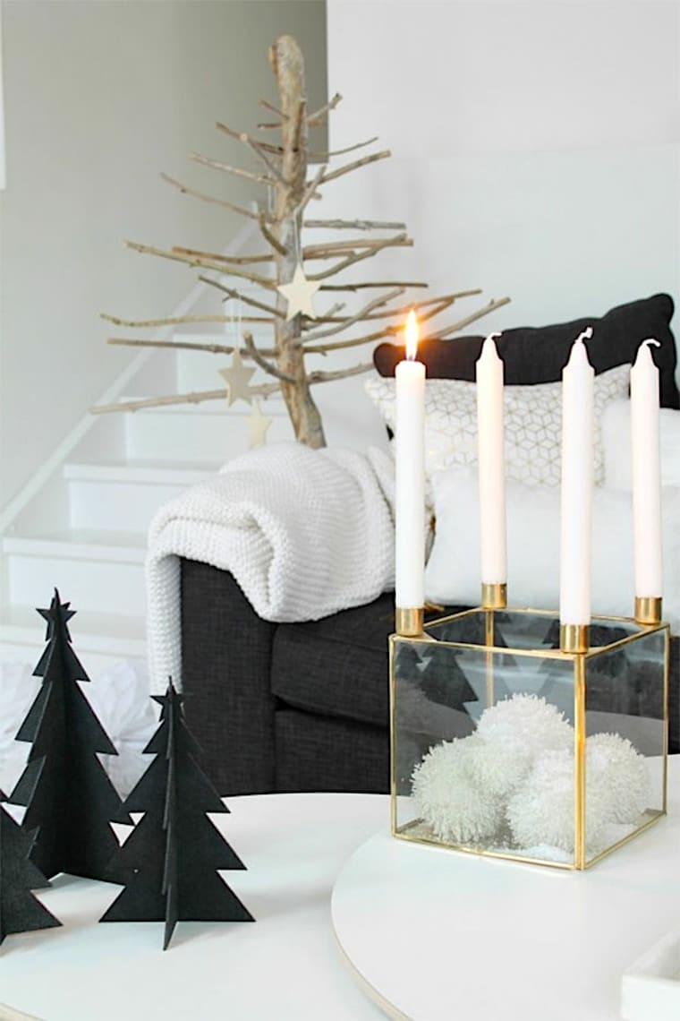 Изготавливая новогодний декор важно выдержать общую стилистику интерьера