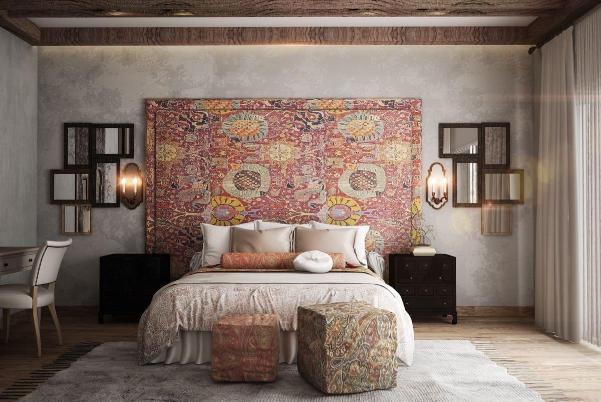 Le léger relief donne au papier peint textile un aspect particulièrement orné et noble.