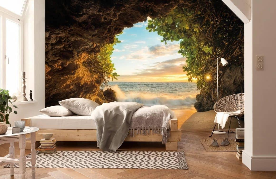 Une agréable sensation de chaleur donnera un papier peint avec une photo de la mer.