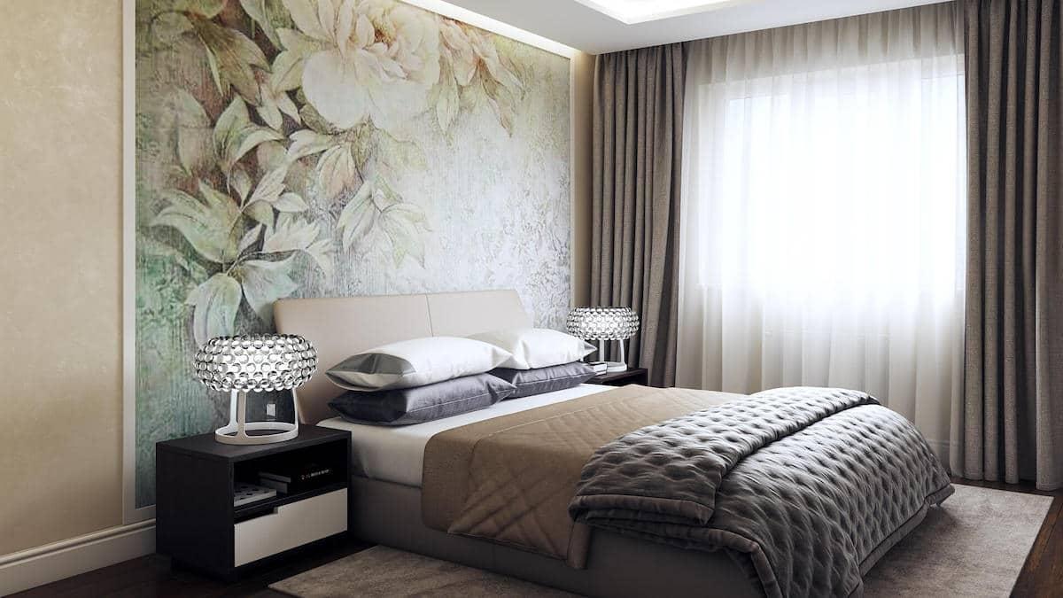 Les papiers peints textiles sont parfaits pour les murs complets ou partiels des chambres à coucher.