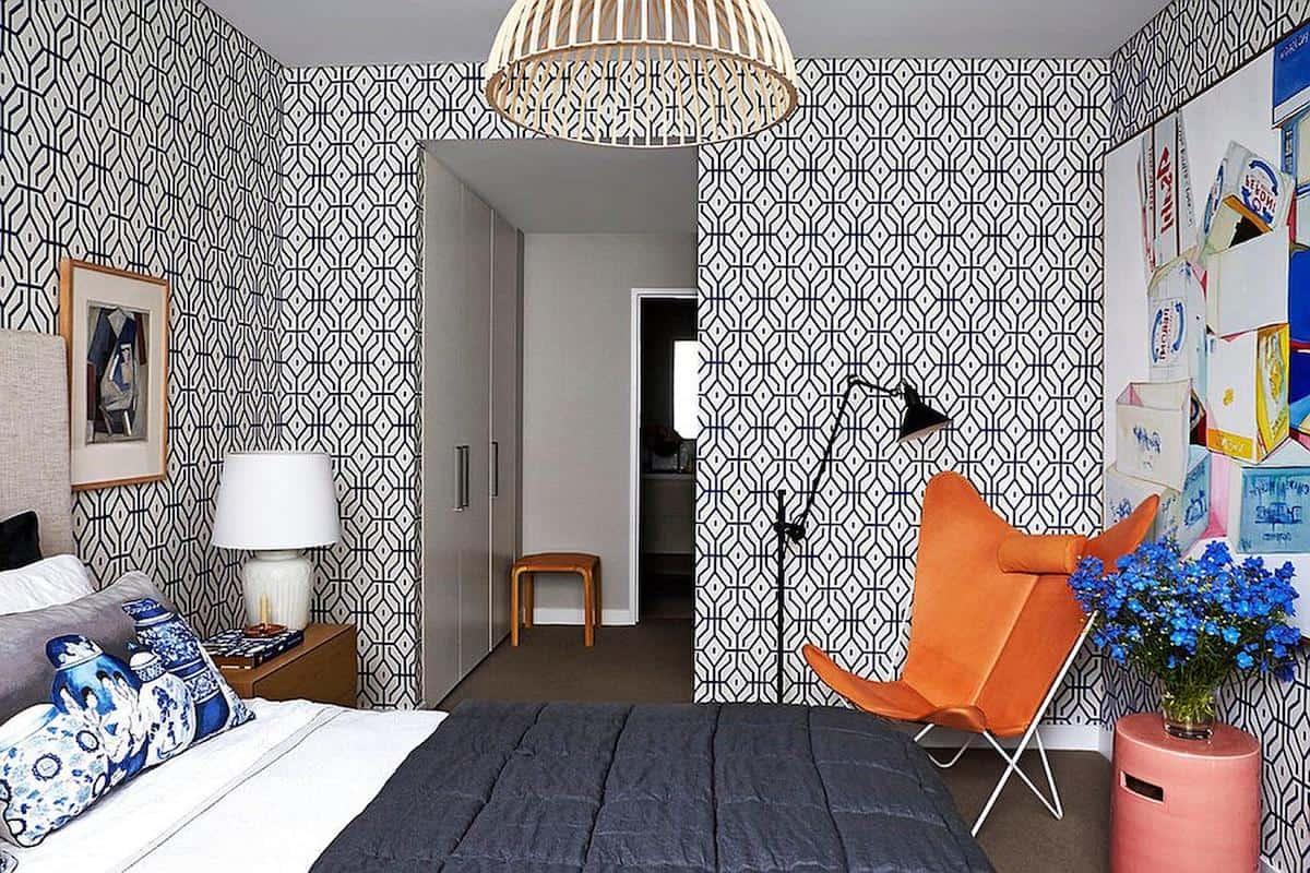 Des motifs géométriques noirs sur un fond clair - une tendance minimaliste d'intérieur très tendance