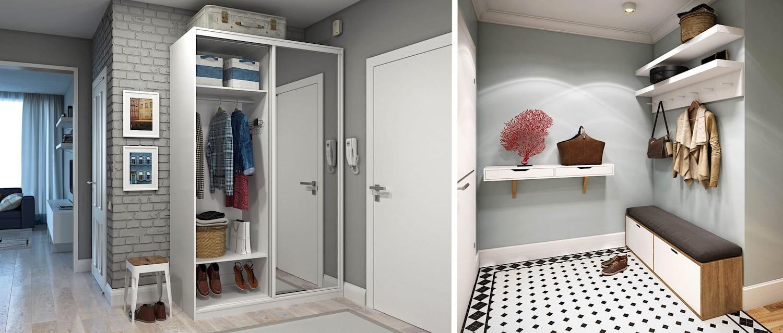 Une abondance de miroirs et de teintes claires rendra le couloir encore plus grand.