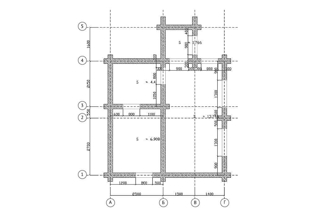 Planification et dessins de l'établissement de bains sur une dalle à noyau creux (projet)