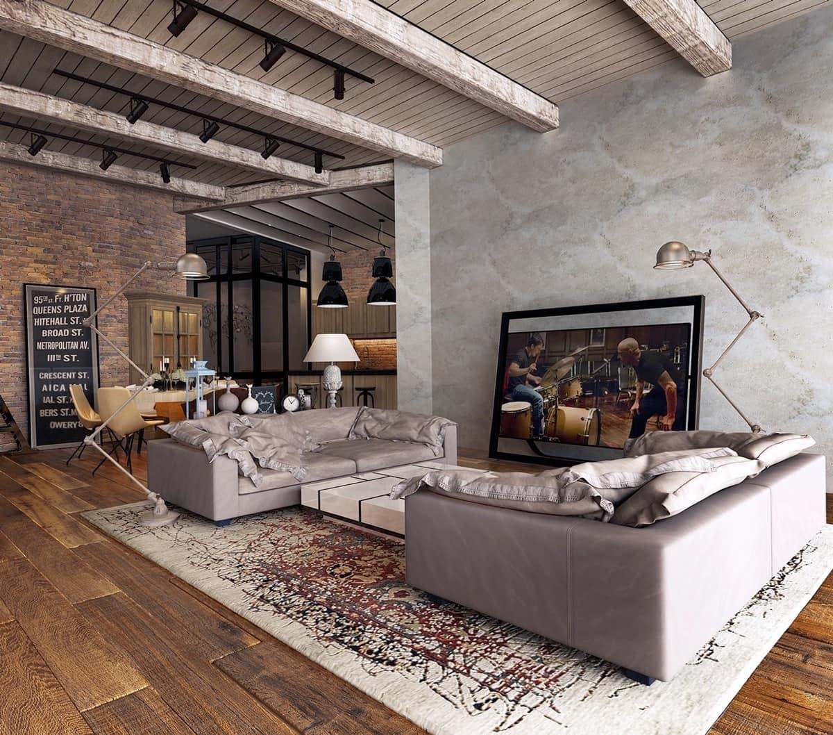 L'incarnation du respect de l'environnement, du naturel, la vie quotidienne à la maison porte un style loft à l'extérieur