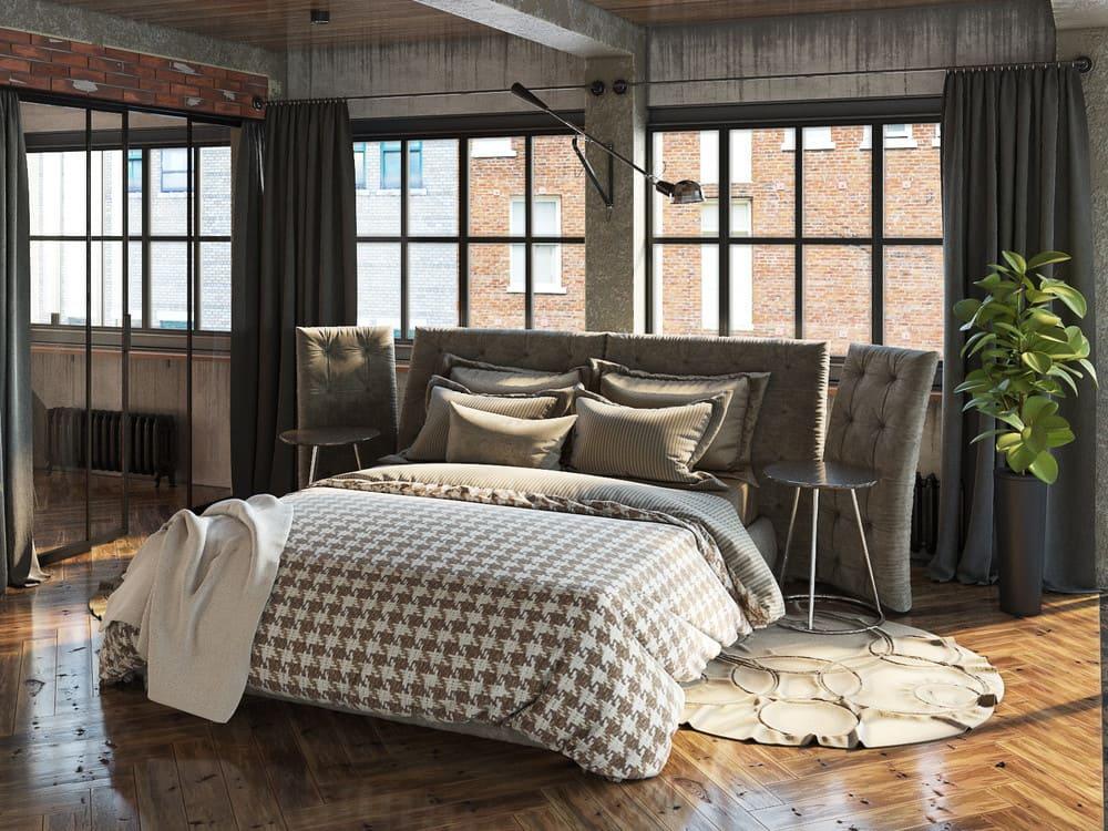 Un tapis de chevet doux à l'intérieur de la chambre est un accessoire important et essentiel.