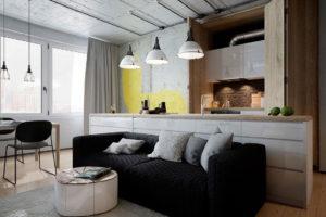 conception de cuisine de style loft