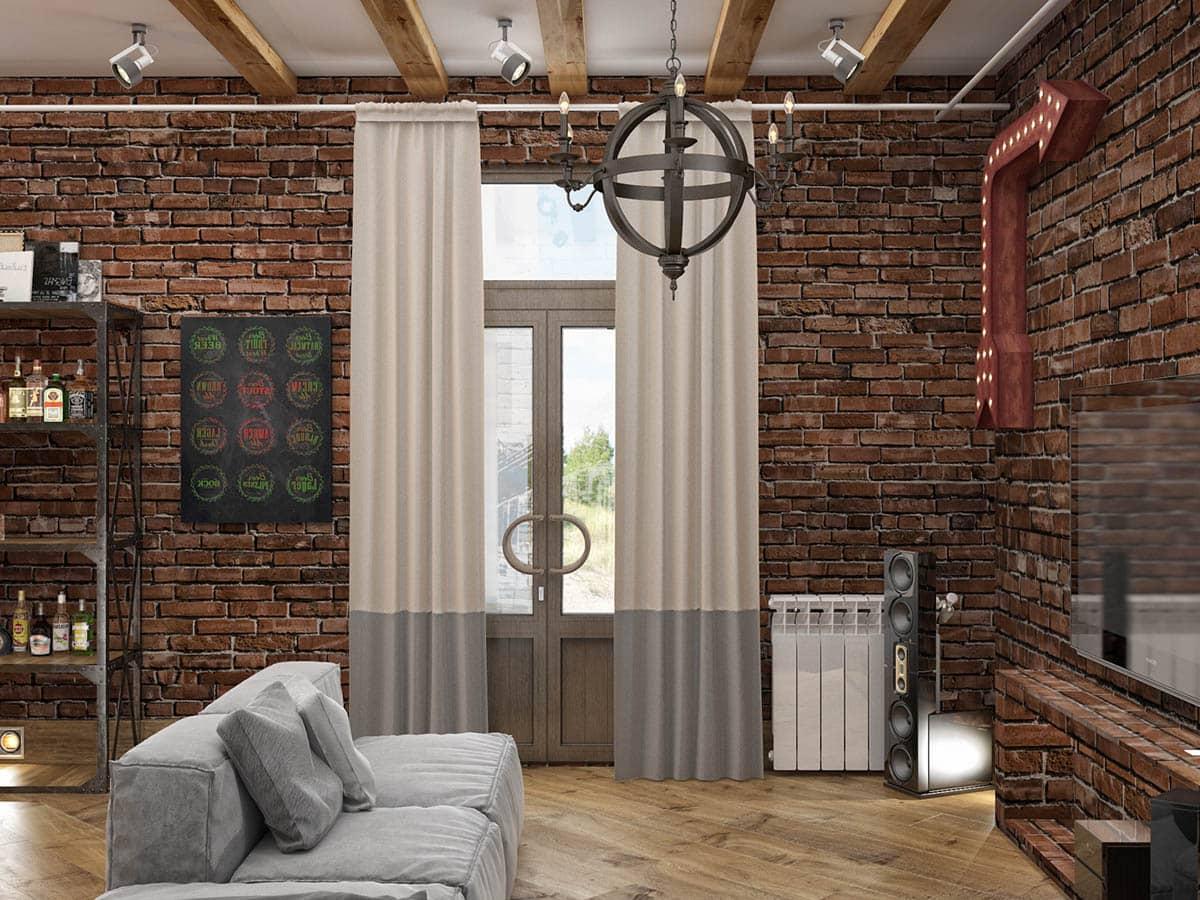 Beau plafond avec poutres en bois, dont la création ne nécessite pas de gros frais financiers