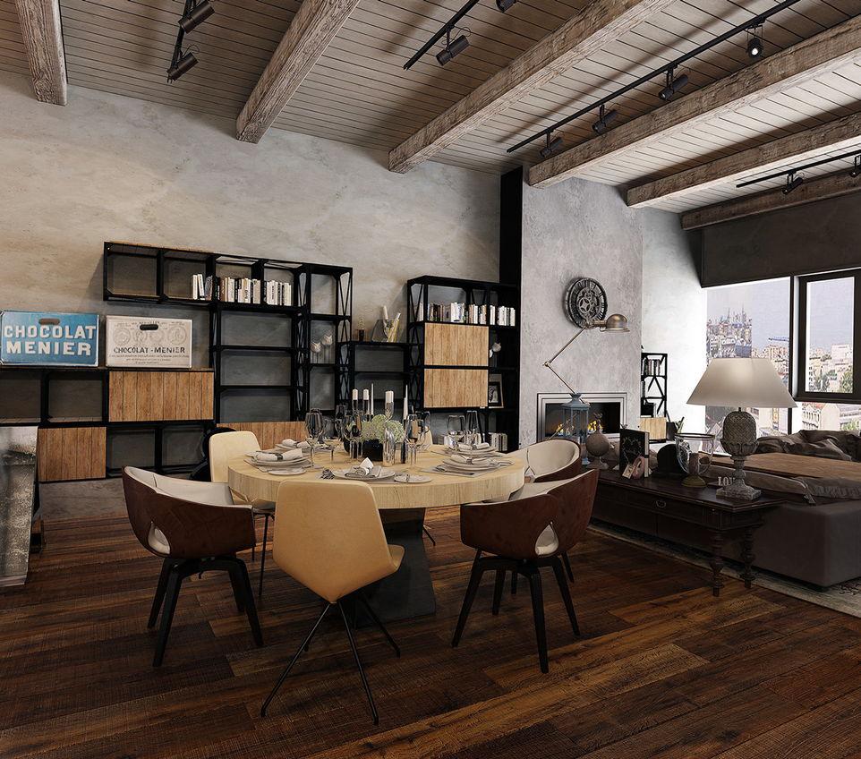 Intérieur du salon meublé avec un ensemble de meubles élégant et pratique