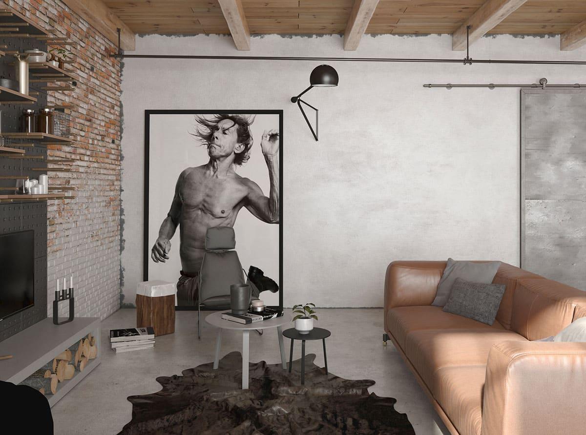 Aménagement pratique, confortable et multifonctionnel de l'appartement avec une bonne disposition des meubles