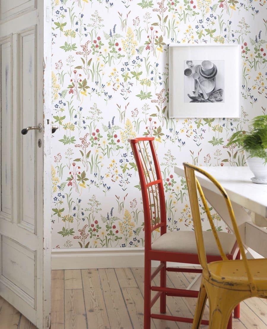 Motifs naturels de Provence sur le mur