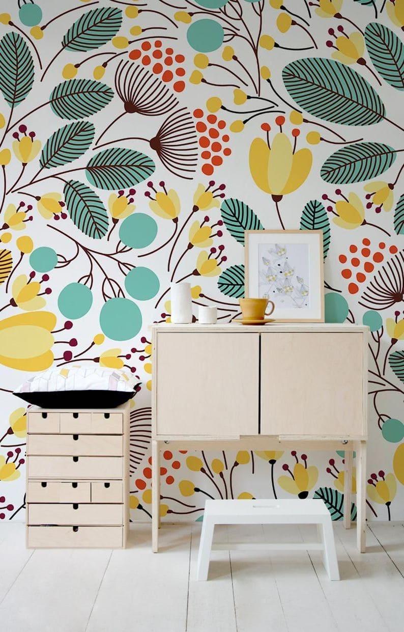 Schéma de couleurs inspirant pour l'aménagement d'une chambre de style écologique
