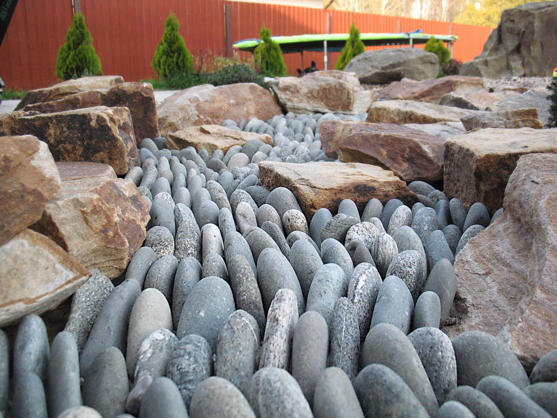 Des pierres de mer pour remplir un ruisseau asséché - c'est magnifique.