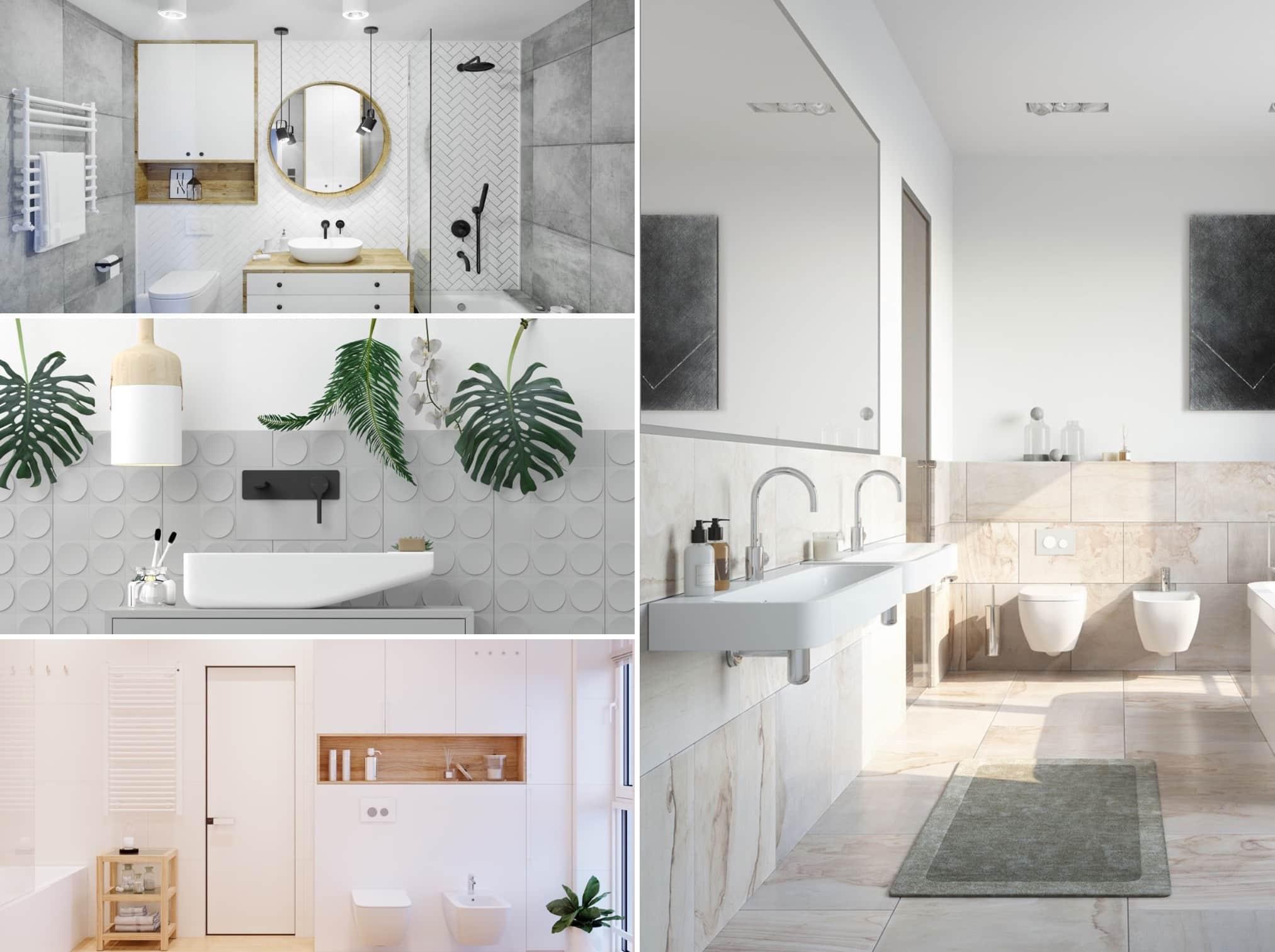 Своим успокаивающим воздействием на человека, белый цвет стен в ванной делает все пространство вокруг расслабляющим и умиротворенным