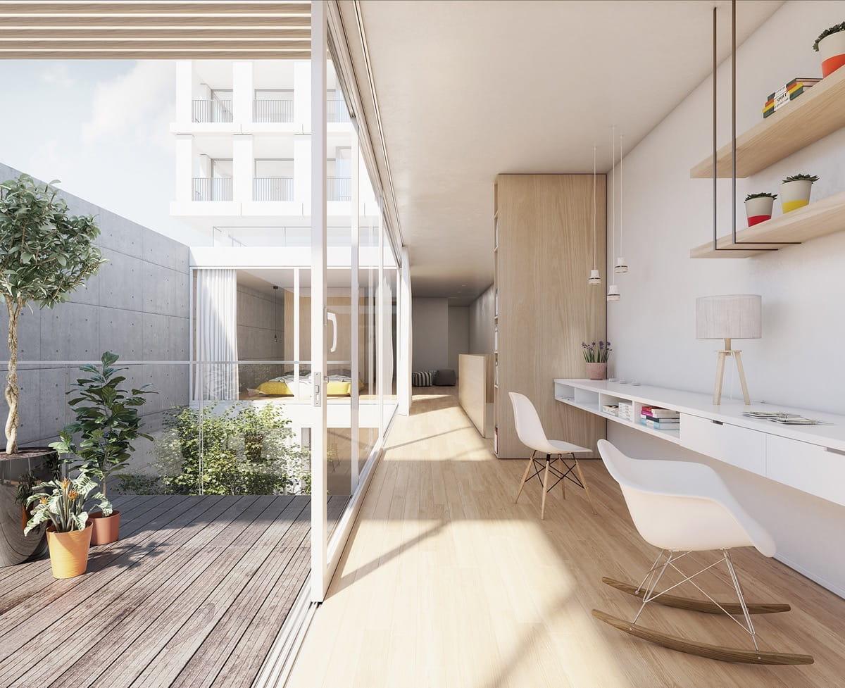 Квартира с открытой террасой – модная тенденция современных апартаментов
