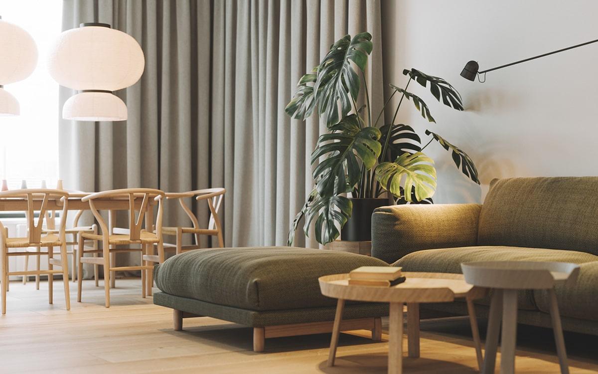 Дизайн интерьера с предметами и мебелью необычных форм