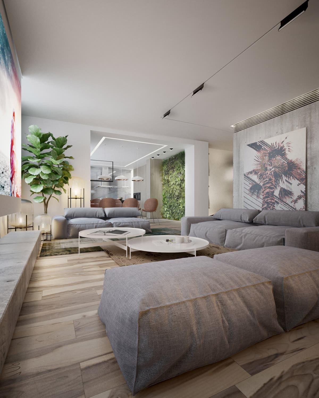 Безумно красивый дизайн комнаты в эко стиле