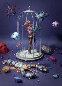 Модульное оригами – птица в клетке