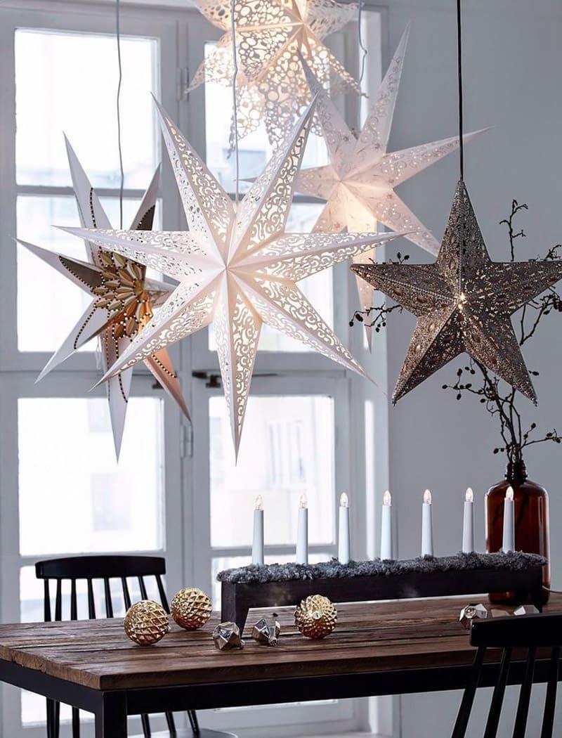 Большие бумажные звезды – незаменимый атрибут новогоднего торжества
