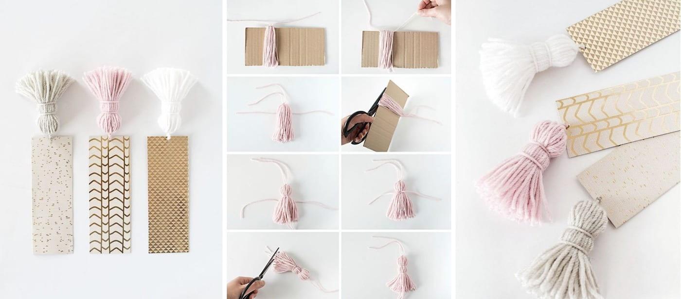 Пошаговое изготовление бумажной закладки