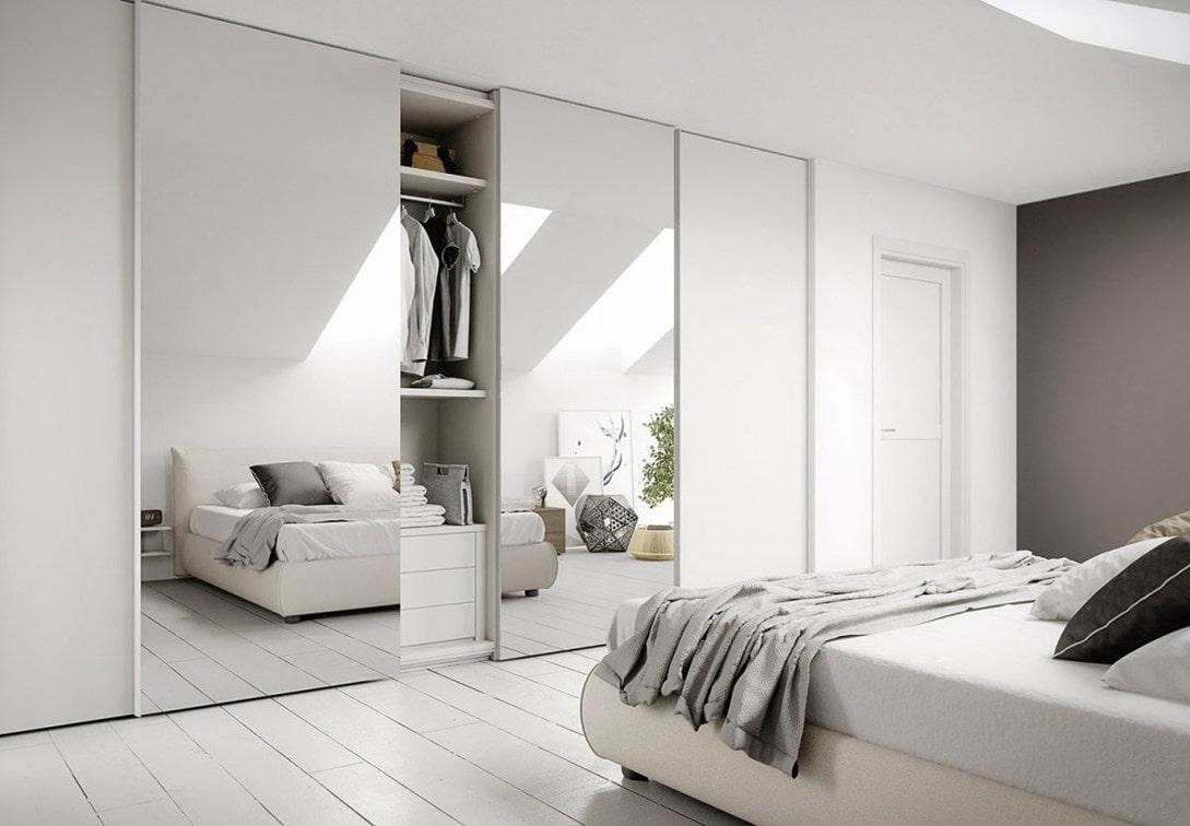 Современное и стильное решение оформления спальни с белых тонах