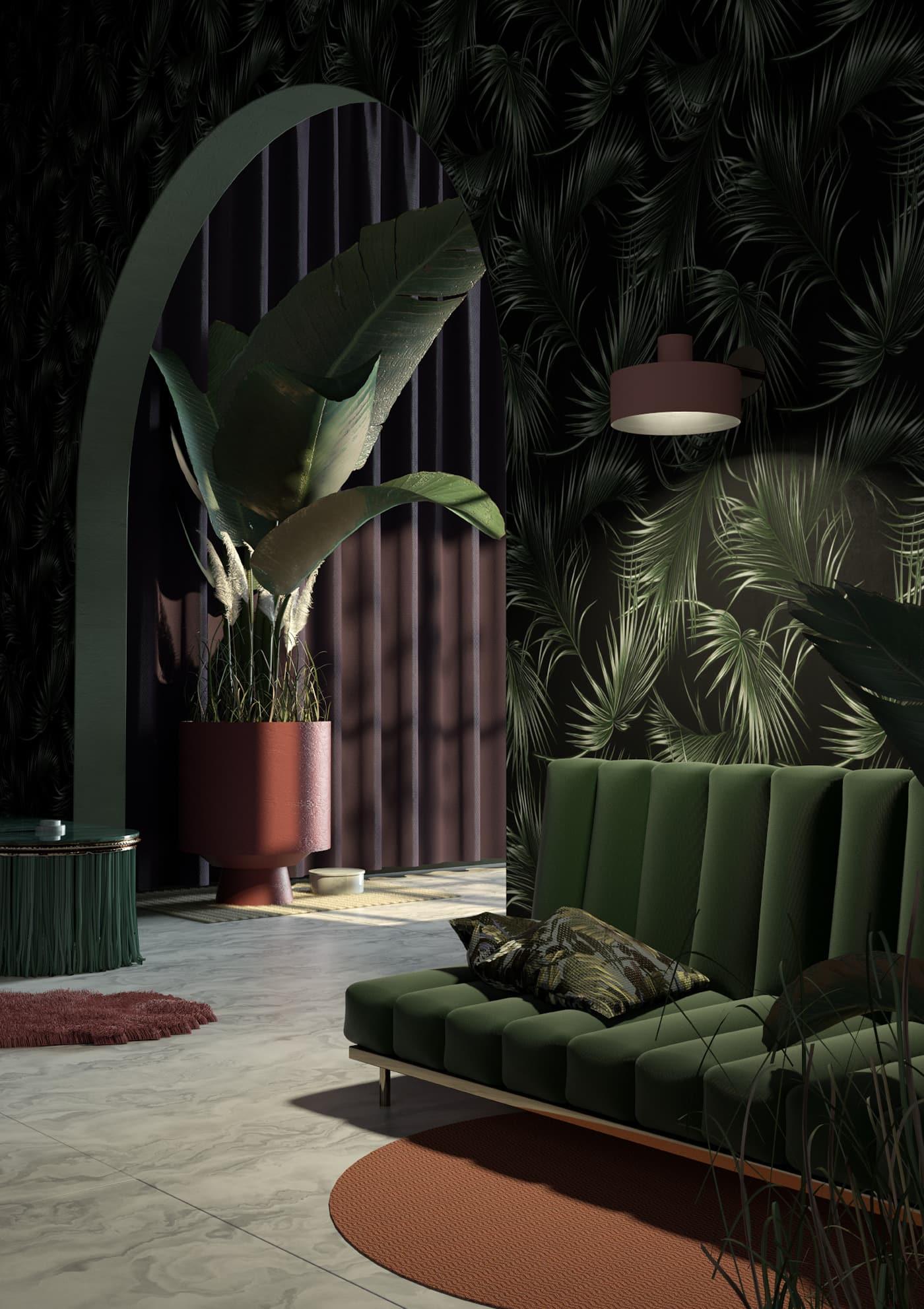 Le vert est unique en ce sens qu'il s'intègre parfaitement à presque tous les intérieurs.