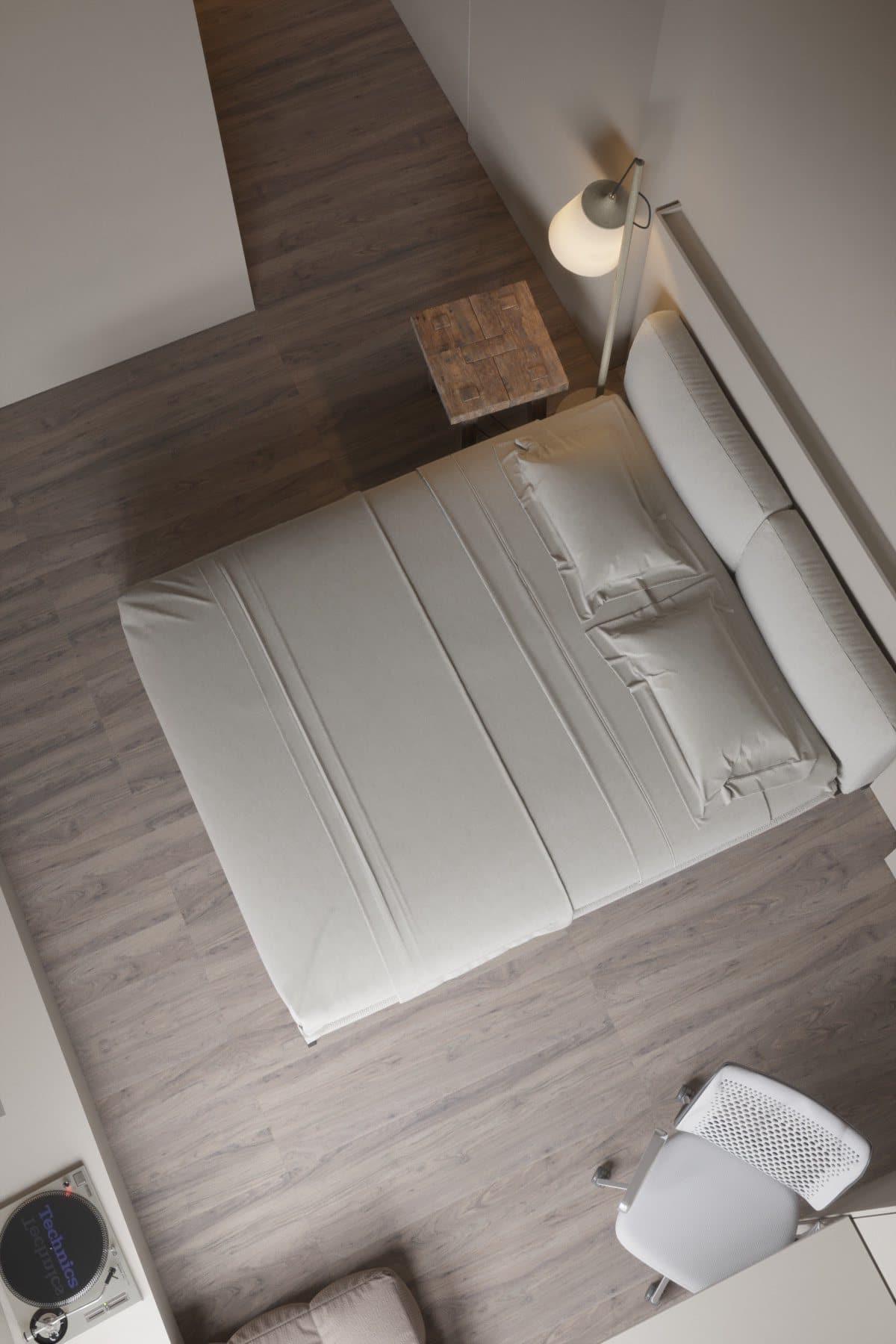 Intérieur de chambre à coucher de style minimaliste
