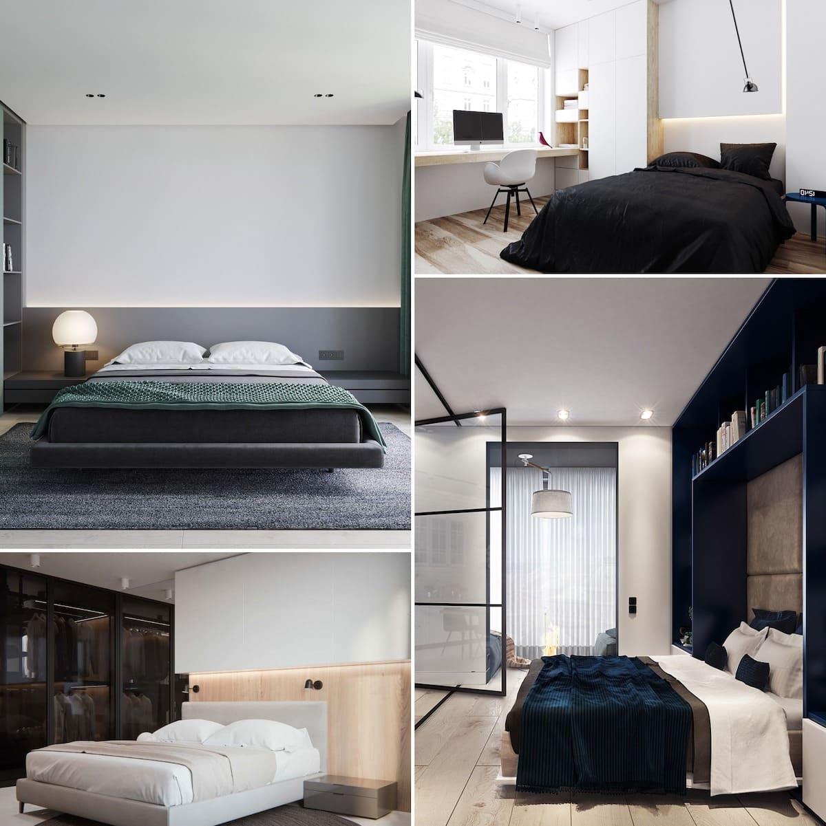 Exemples intéressants de décorations de chambre à coucher 2021