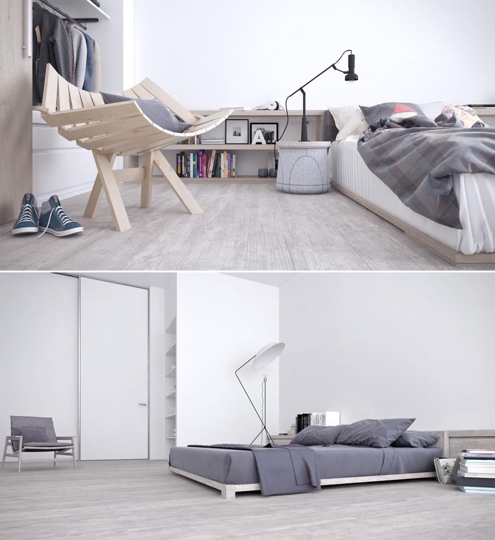 Les amateurs de style minimaliste apprécieront ce type d'option de conception de la chambre 2021.