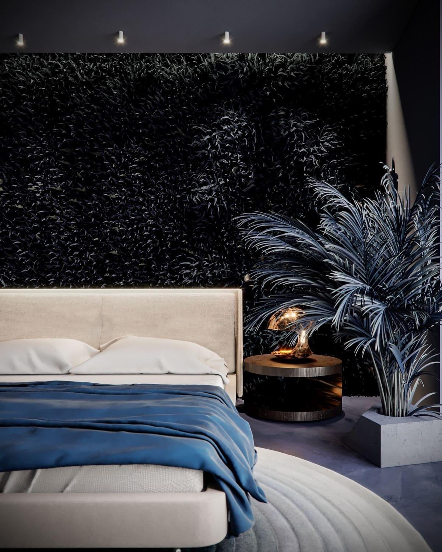 Chambre à coucher art déco élégante