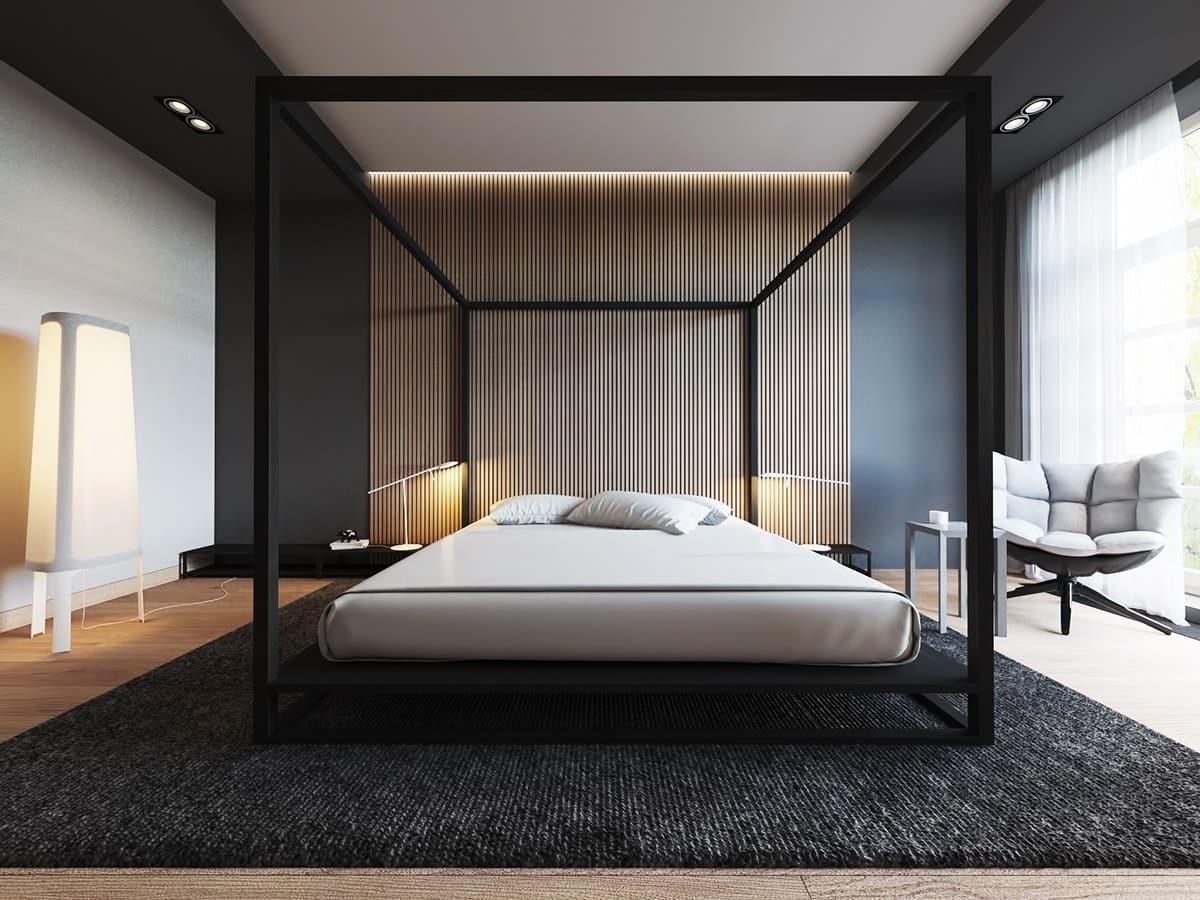 Chambre spacieuse dans un style minimaliste