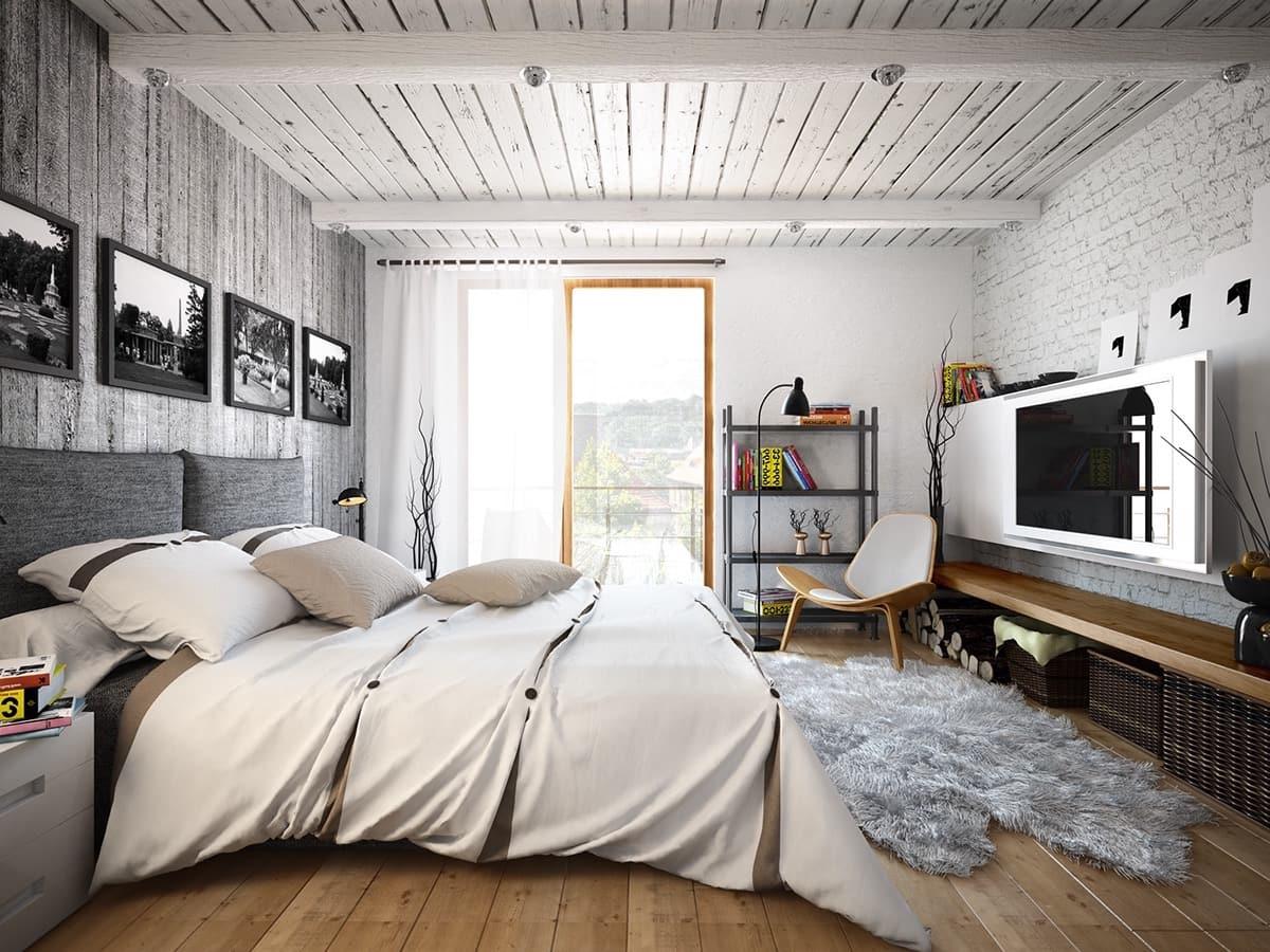 Le style loft permet la présence de teintes chaudes et froides.